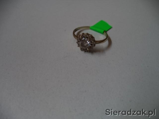 Złoty Pierścionek Zaręczynowy śliczny Sieradzakpl